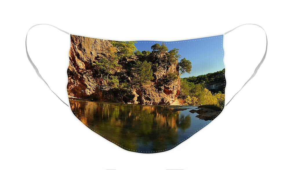 Creek Face Mask featuring the photograph Arbuckle Mountains by Iris Greenwell