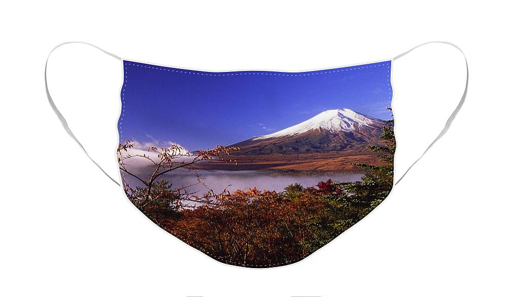 Japan Face Mask featuring the photograph Mount Fuji in Autumn by Michele Burgess