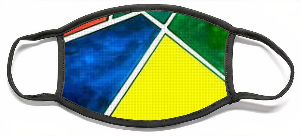 Primary And Sondary Colors Face Mask featuring the painting 99870 Colors by Andrew Johnson