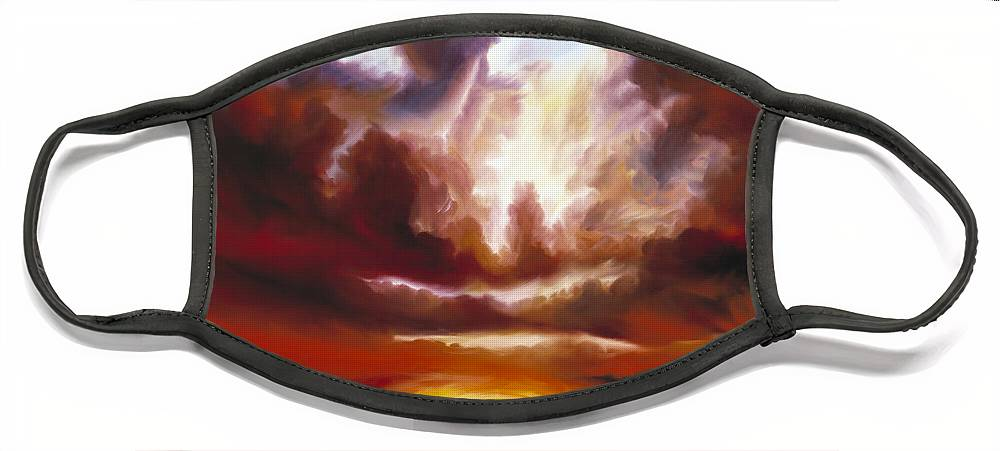 Tempest Face Mask featuring the painting A Cosmic Storm - Genesis V by James Christopher Hill