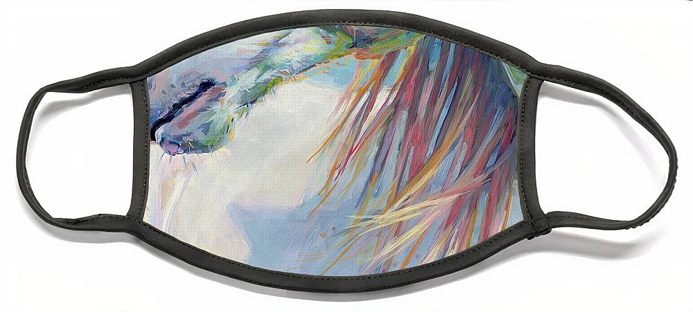 Pony Face Mask featuring the painting A Gentle Breeze by Kimberly Santini