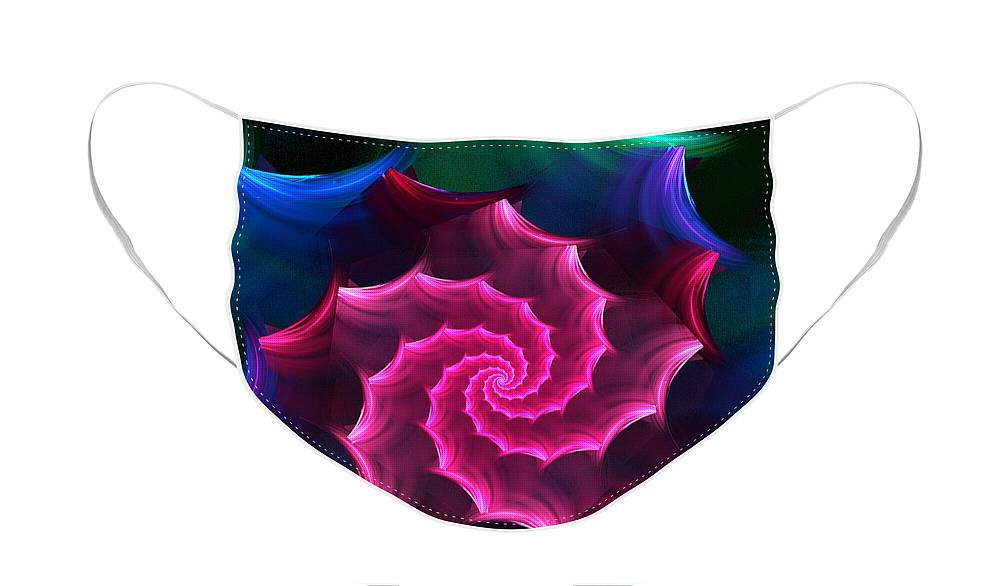 Fantasy Face Mask featuring the digital art A Rose by Any Other Name by David Lane
