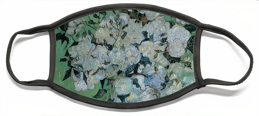 Vase Face Mask featuring the painting A Vase of Roses by Vincent van Gogh