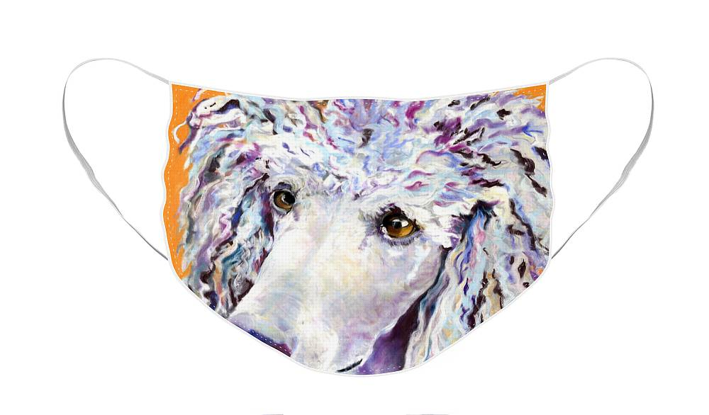 Standard Poodle Face Mask featuring the pastel Above The Standard  by Pat Saunders-White