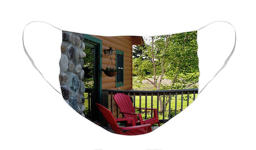 Diane Berry Face Mask featuring the painting Adirondack Bliss by Diane E Berry