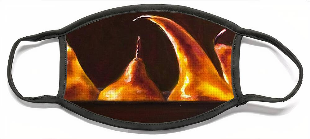 Pears Face Mask featuring the painting All Aboard by Shannon Grissom