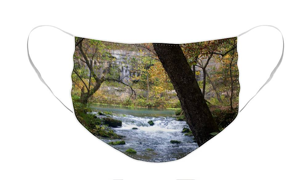 Ozarks Face Mask featuring the photograph Alley Spring Branch 2 by Marty Koch