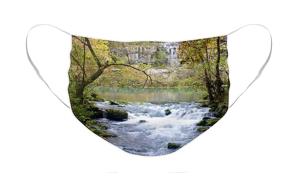 Ozarks Face Mask featuring the photograph Alley Spring Branch 3 by Marty Koch