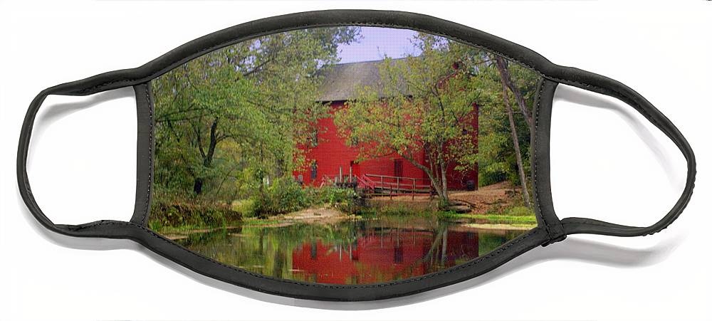 Alley Spring Face Mask featuring the photograph Allsy Sprng Mill 2 by Marty Koch