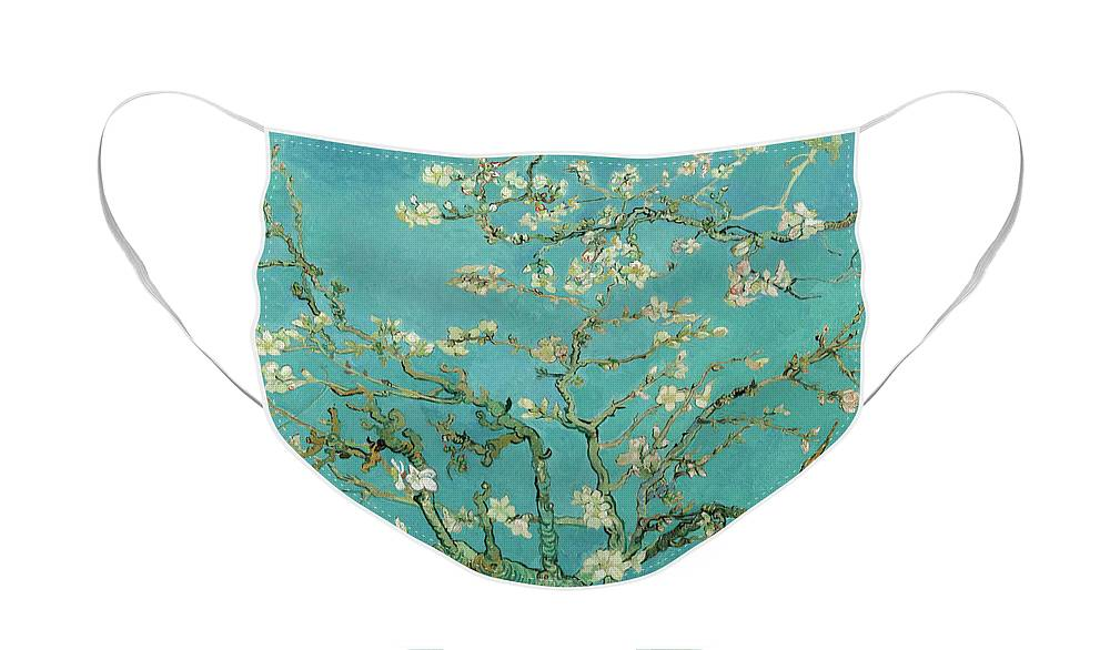 Almond Blossom Face Mask featuring the painting Almond Blossom, 1890 by Vincent van Gogh