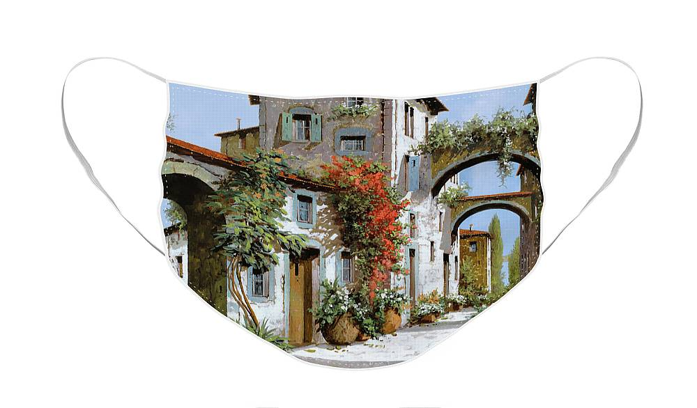 Arches Face Mask featuring the painting Altri Archi by Guido Borelli