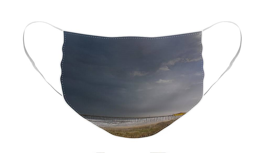 Cape Hatteras Face Mask featuring the photograph Approaching Thunderstorm by Andreas Freund