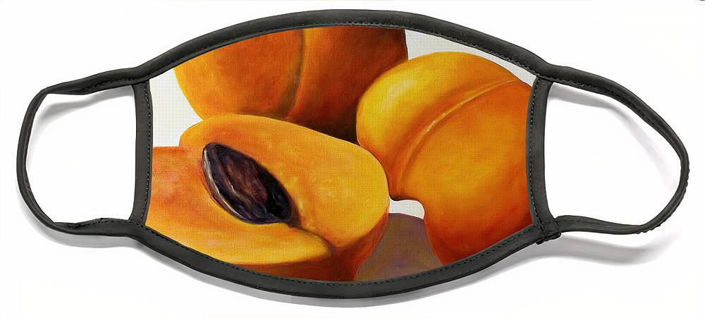 Apricots Face Mask featuring the painting Apricots by Shannon Grissom