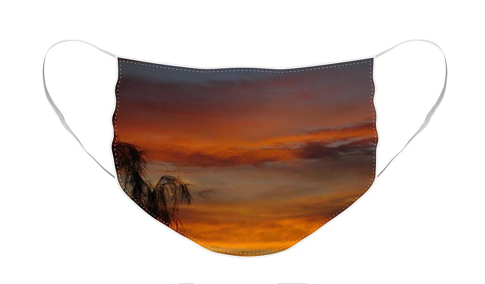 Photography Face Mask featuring the photograph Arizona Sunset by Lessandra Grimley