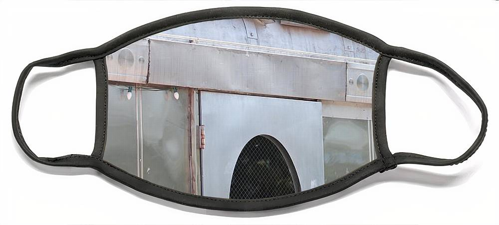 Architecture Face Mask featuring the photograph Art Deco Diner by Rob Hans