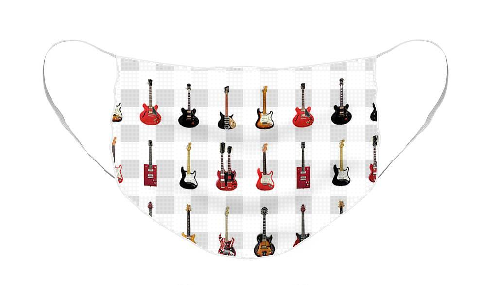 Rock N Roll Music Jimi Hendrix Face Masks