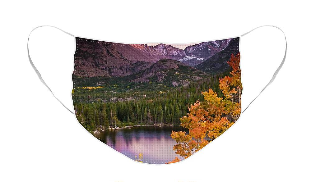 All Rights Reserved Face Mask featuring the photograph Aspen Sunset Over Bear Lake by Mike Berenson