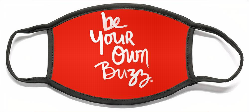 Stripes Face Mask featuring the painting Be Your Own Buzz by Linda Woods