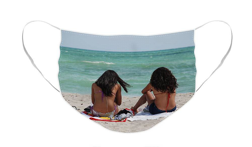 Women Face Mask featuring the photograph Beauties On The Beach by Rob Hans