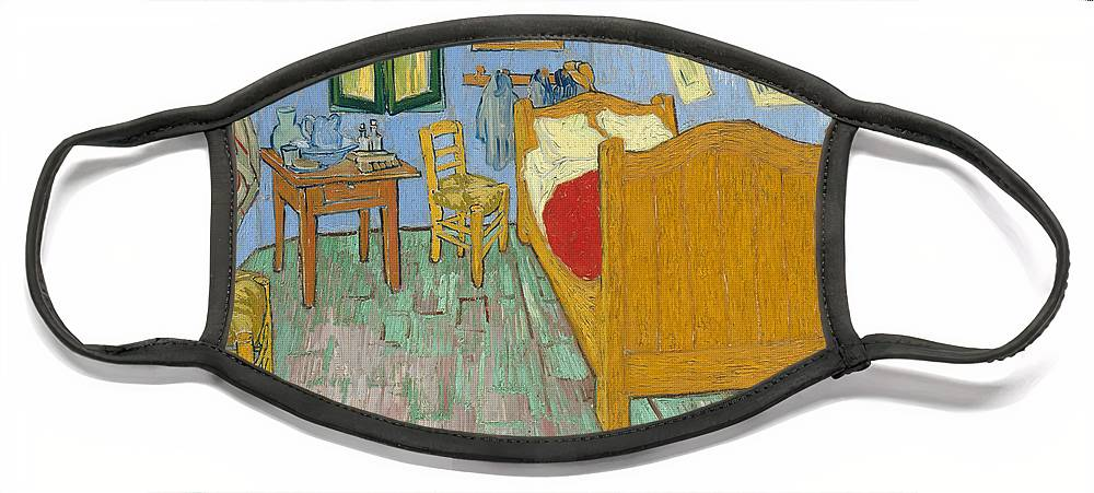 Bedroom At Arles Face Mask featuring the painting Bedroom At Arles by Van Gogh