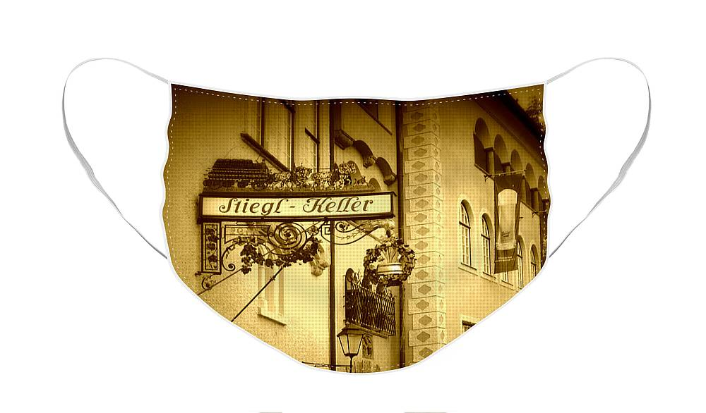 Beer Hall Face Mask featuring the photograph Beer Cellar in Salzburg by Carol Groenen