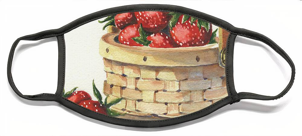 Berry Face Mask featuring the painting Berry Nice by Marsha Elliott