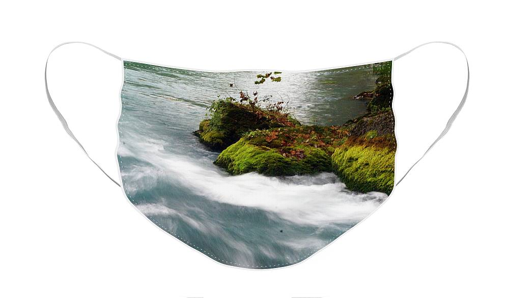 Big Spring Face Mask featuring the photograph Big Spring Branch 2 by Marty Koch
