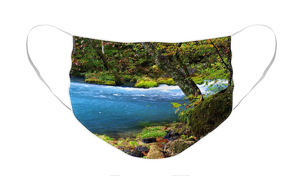 Big Spring Face Mask featuring the photograph Big Spring by Marty Koch