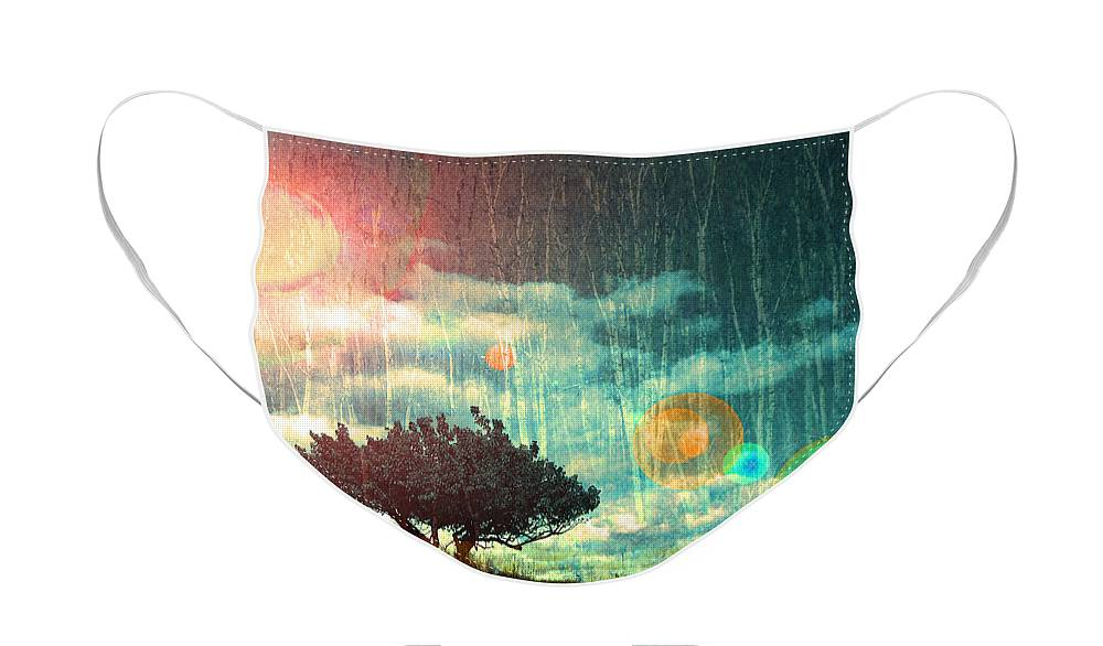 Light Face Mask featuring the photograph Birch Dreams by Tara Turner