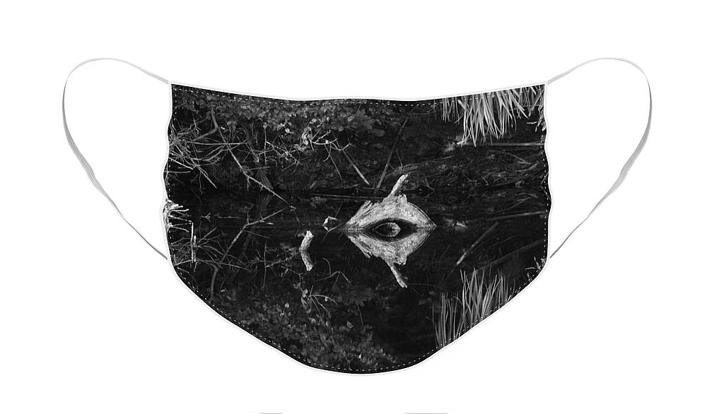Cyclops Face Mask featuring the photograph Black And White Cyclops by Rob Hans