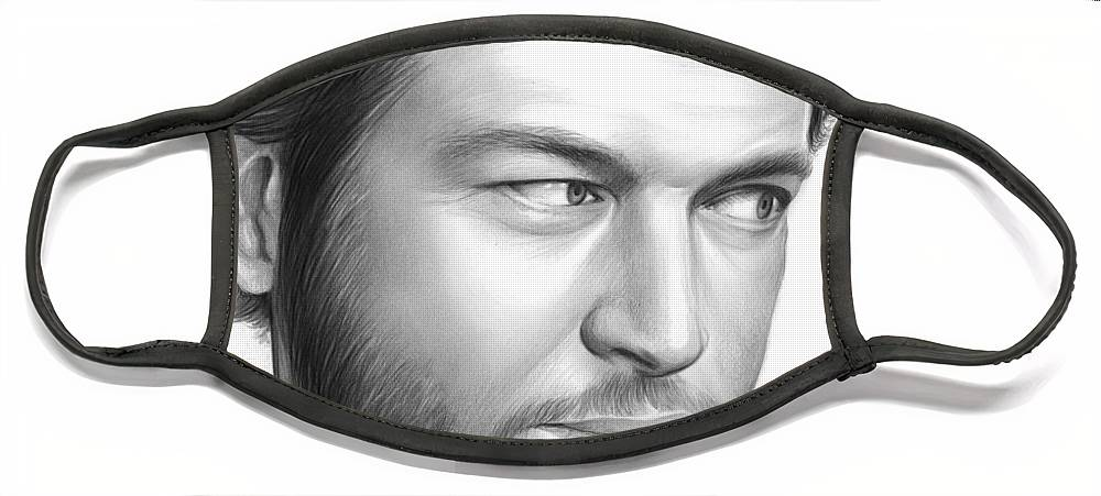 Celebrity Face Mask featuring the drawing Blake Shelton by Greg Joens