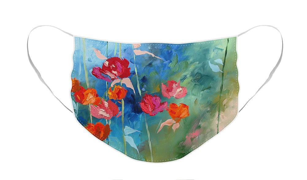 Art Face Mask featuring the painting Bliss by Linda Monfort