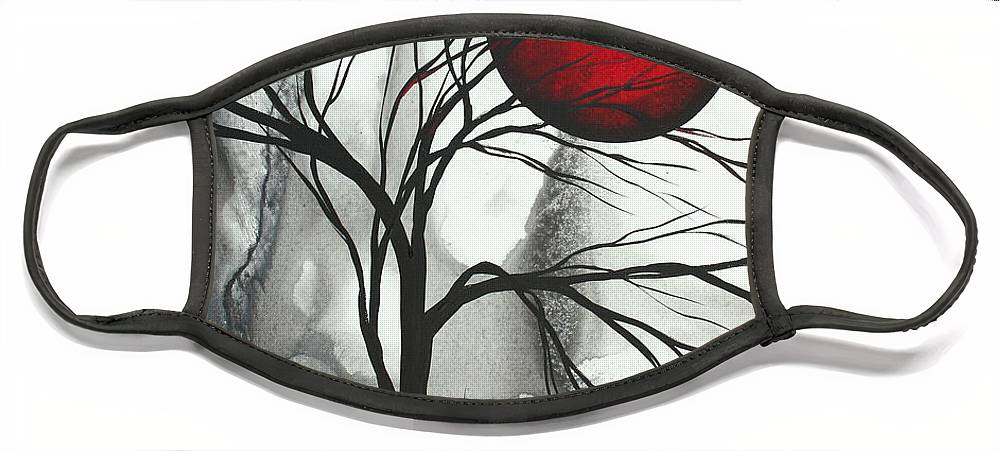 Huge Face Mask featuring the painting Blood of the Moon 2 by MADART by Megan Duncanson