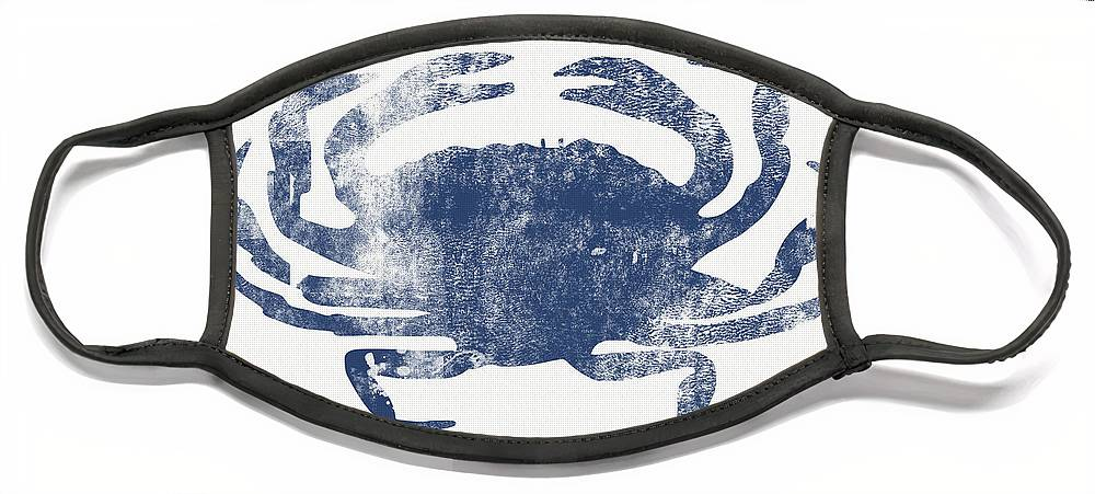 Cape Cod Face Mask featuring the painting Blue Crab- Art by Linda Woods by Linda Woods