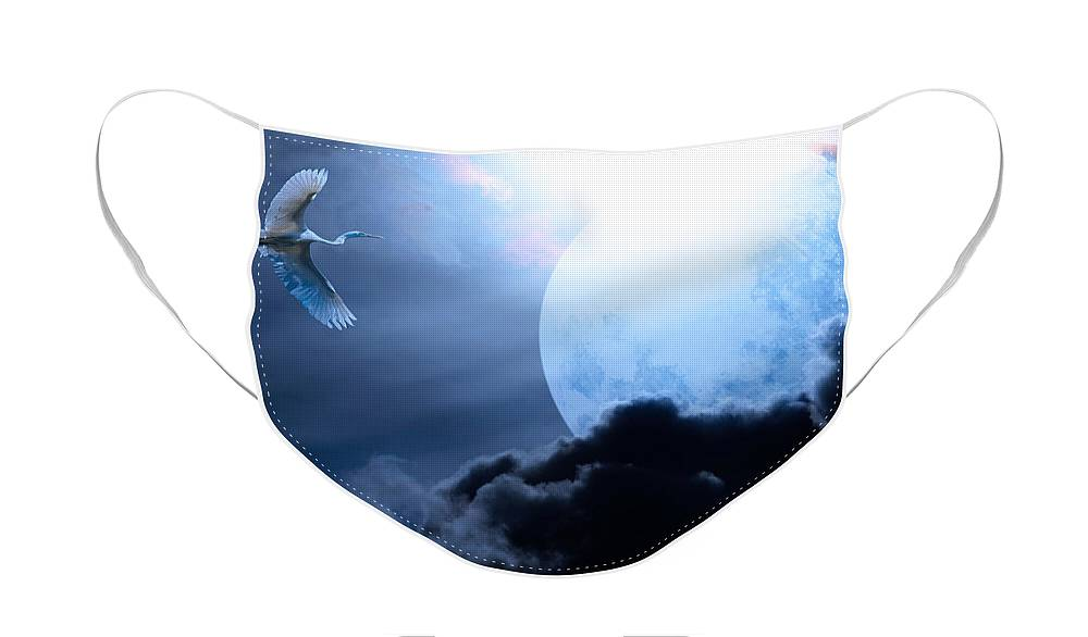 Animal Face Mask featuring the photograph Blue Moon - 7D12372 by Wingsdomain Art and Photography