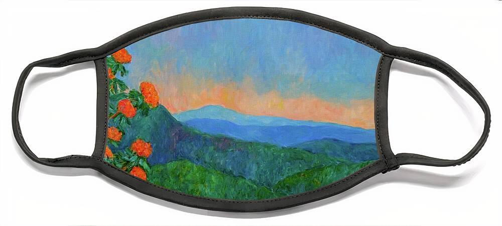 Kendall Kessler Face Mask featuring the painting Blue Ridge Morning by Kendall Kessler