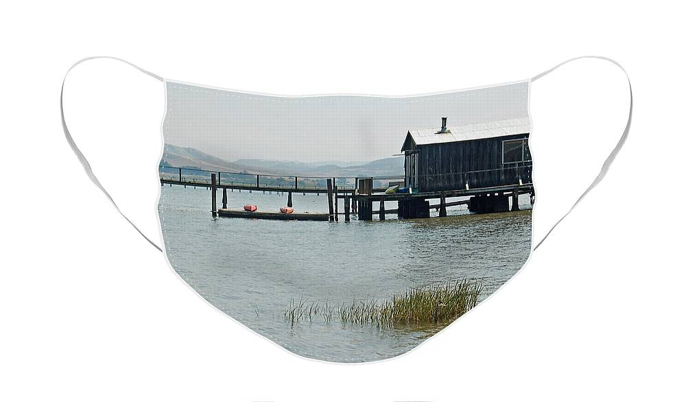 Boat House Face Mask featuring the photograph Boat House at Inverness by Suzanne Gaff