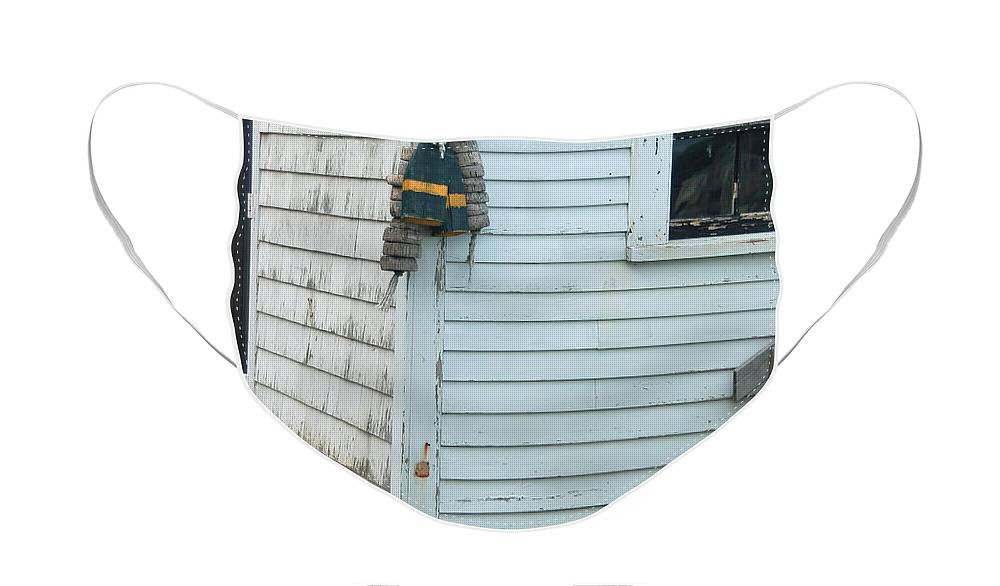 Boat Face Mask featuring the photograph Boat Shack by Suzanne Gaff
