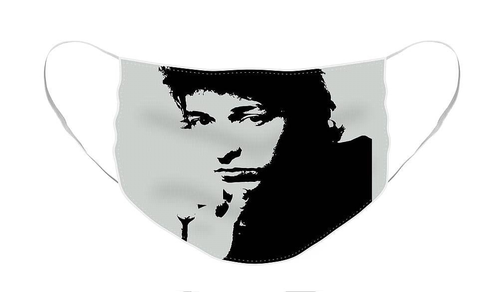 Bob Dylan Face Mask featuring the painting Bob Dylan Poster Print Quote - The Times They Are A Changin by Beautify My Walls
