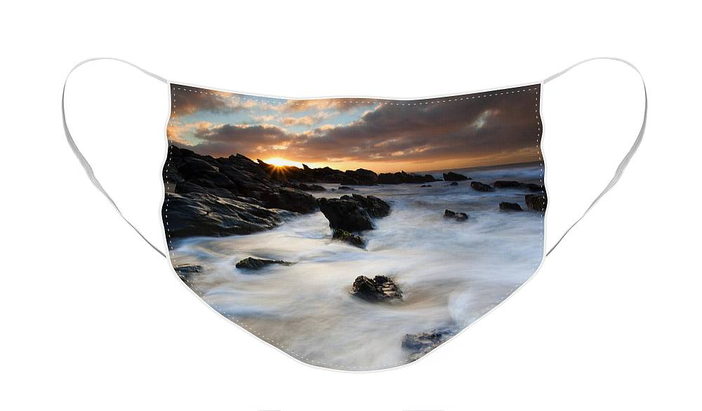 Sunrise Face Mask featuring the photograph Boiling Tides by Mike Dawson