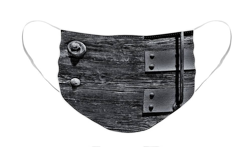 Wood Face Mask featuring the photograph Bolted Wood by Scott Wyatt
