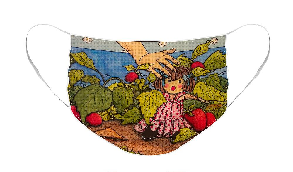 Children Face Mask featuring the painting Book Illustration by Victoria Heryet