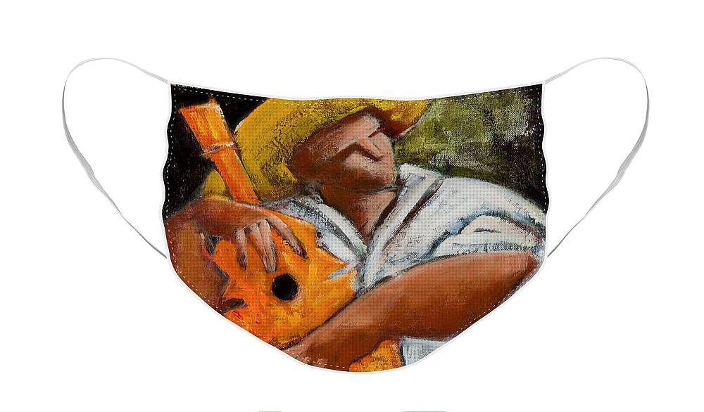 Puerto Rico Face Mask featuring the painting Bravado Alla Prima by Oscar Ortiz
