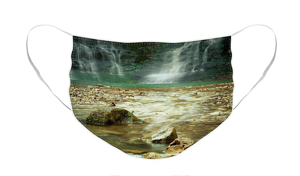 Landscape Face Mask featuring the photograph Break of Silence by Iris Greenwell