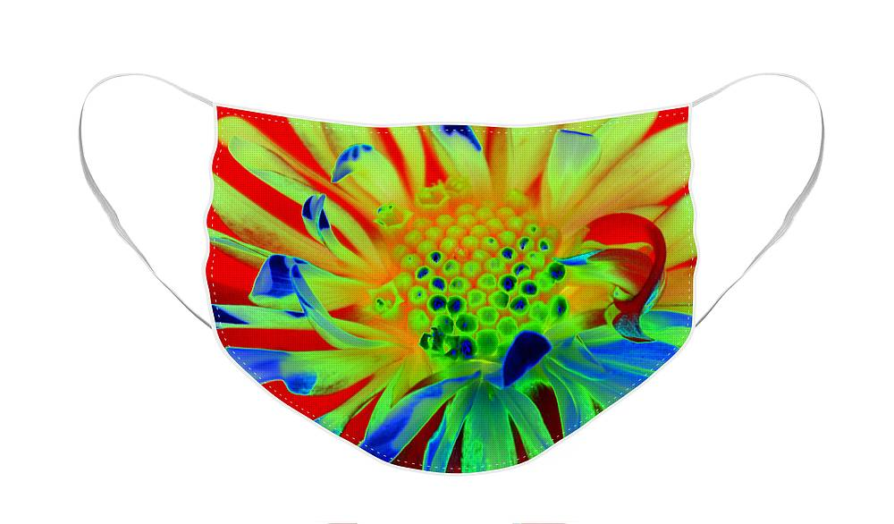 Diane Berry Face Mask featuring the painting Bright Flower by Diane E Berry