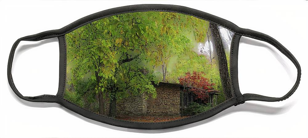 Cedric Hampton Face Mask featuring the photograph Cabin In The Woods by Cedric Hampton