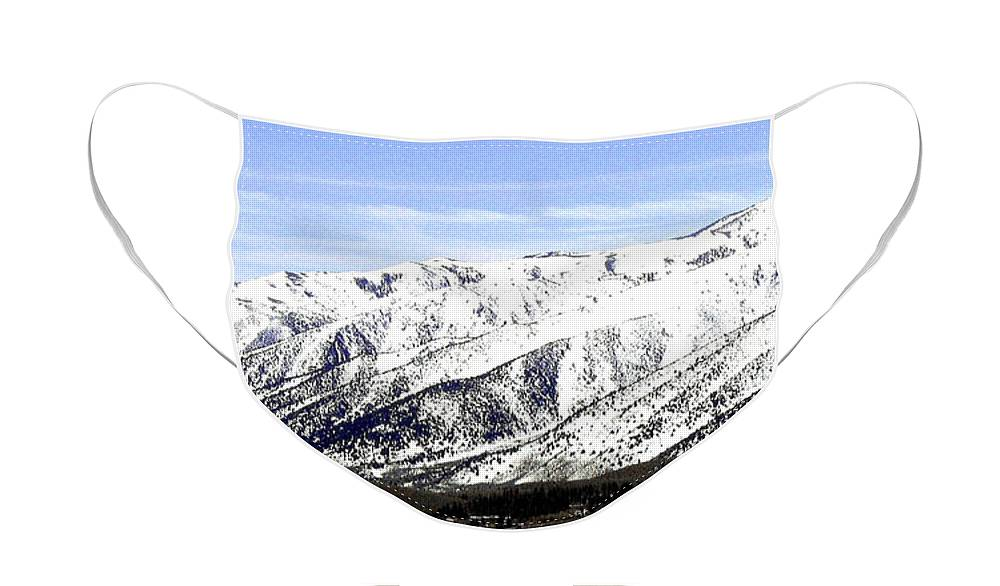 Snowcapped Face Mask featuring the photograph California Grandeur by Will Borden