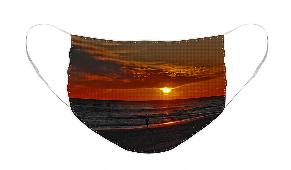 Sunset Face Mask featuring the photograph California Sun by Susanne Van Hulst