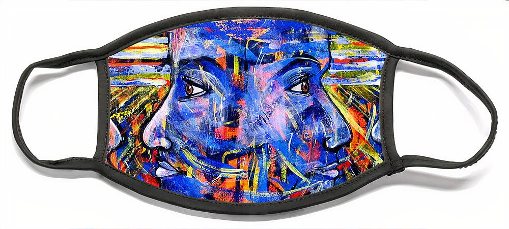 Confrontation Face Mask featuring the painting Can Not Live A Lie by Rollin Kocsis