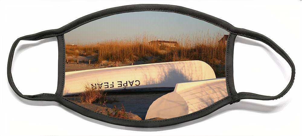 Boats Face Mask featuring the photograph Cape Fear Boats by Nadine Rippelmeyer